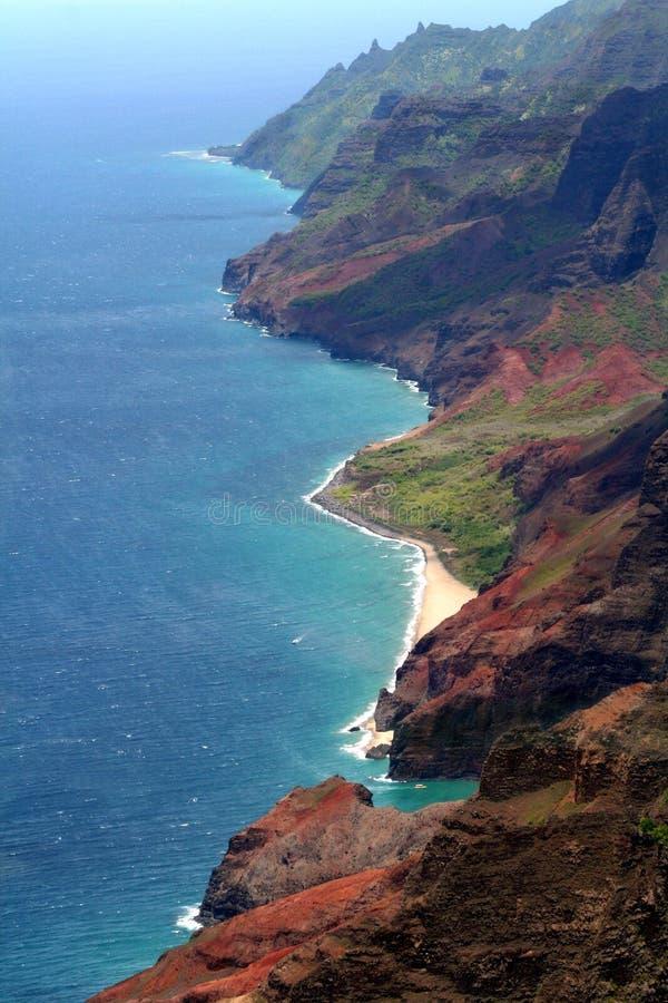 Scogliere di Kauai fotografie stock libere da diritti