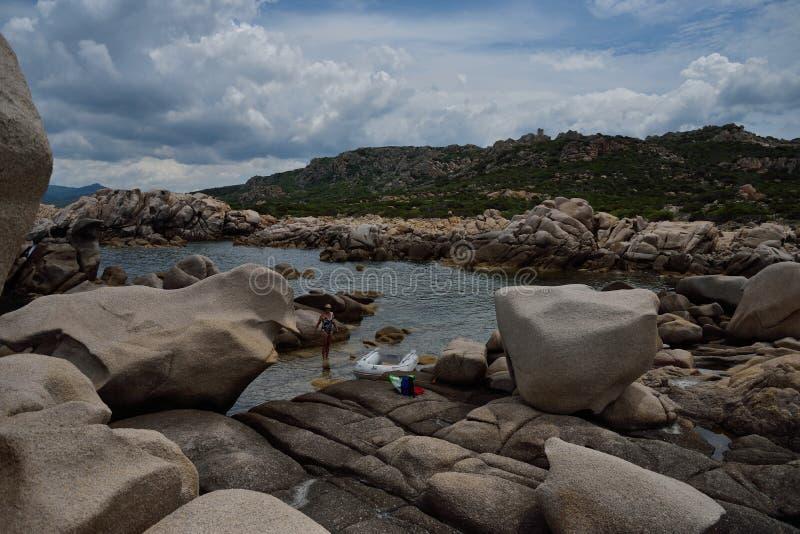 Scoglio Bianco zatoczka zdjęcie royalty free