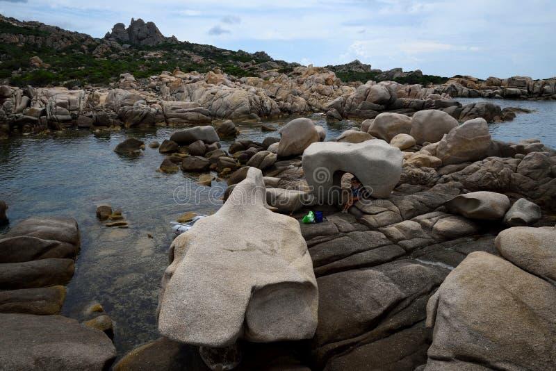 Scoglio Bianco zatoczka fotografia royalty free