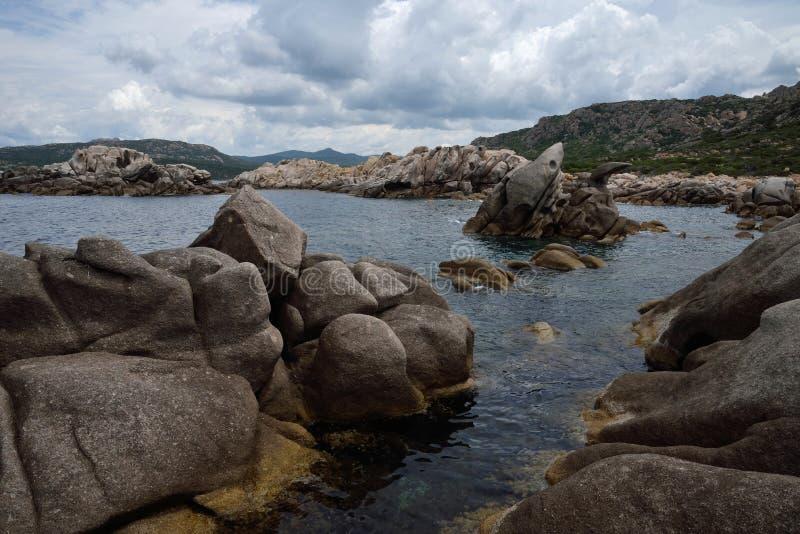Scoglio Bianco zatoczka zdjęcia royalty free