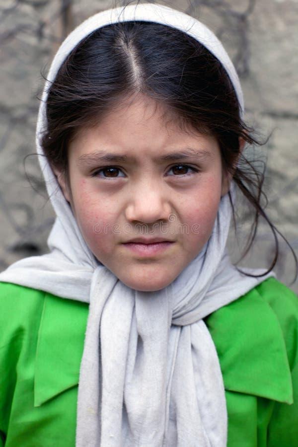 Scolara di Balti da Ladakh, India fotografia stock libera da diritti