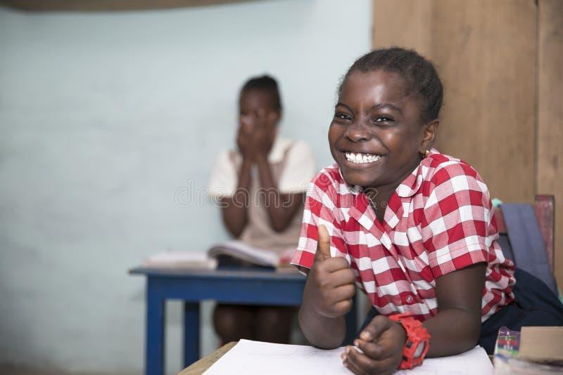 Scolari di base dal Ghana, Africa occidentale immagine stock libera da diritti