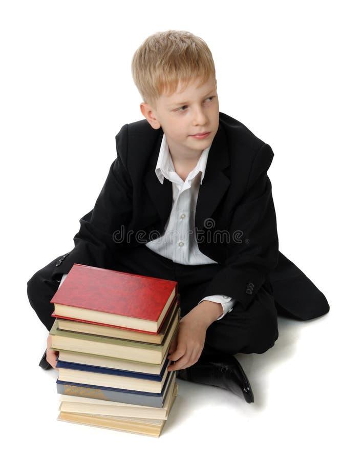 Scolaro con i libri. fotografia stock libera da diritti