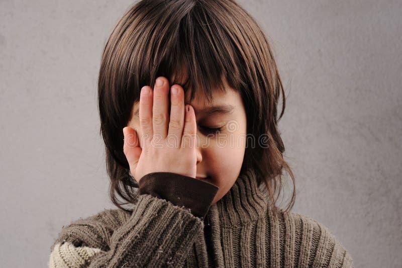 Scolaro, serie di bambino intelligente 6-7 anni fotografia stock