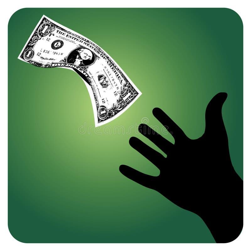Scolo dei soldi illustrazione di stock