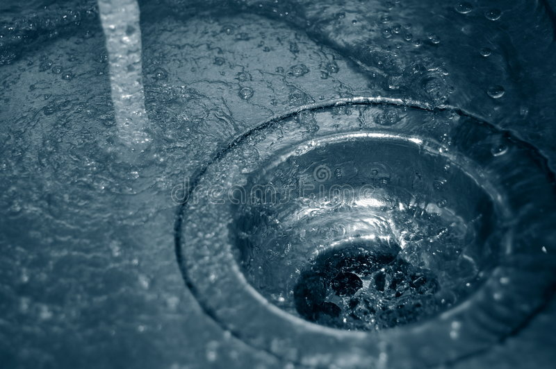 Scolo dell'acqua fotografia stock