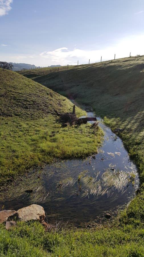 Scolo dell'acqua di Napa Valley fotografia stock libera da diritti