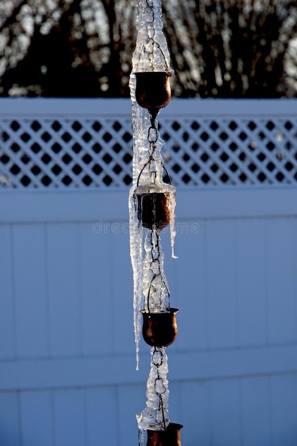 Scolo della pioggia congelato immagine stock libera da diritti