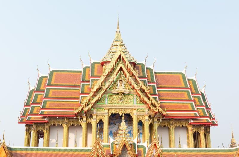 Scolpisca la misurazione ed il celeste - tempio di Watbuakhwan, Nonthaburi immagini stock libere da diritti