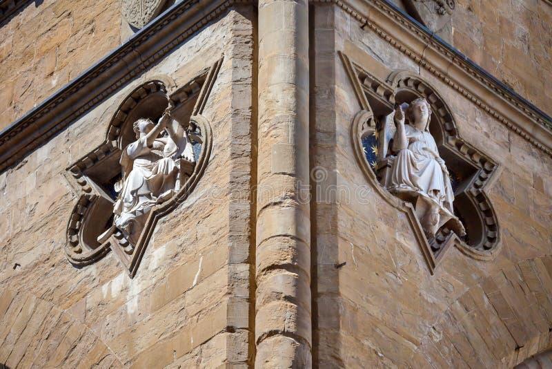 Scolpisce il dettaglio architettonico di Loggia de Lanzi fotografie stock