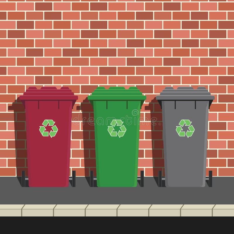 Scomparti di riciclaggio illustrazione vettoriale