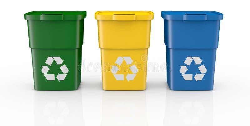 Scomparti di riciclaggio royalty illustrazione gratis