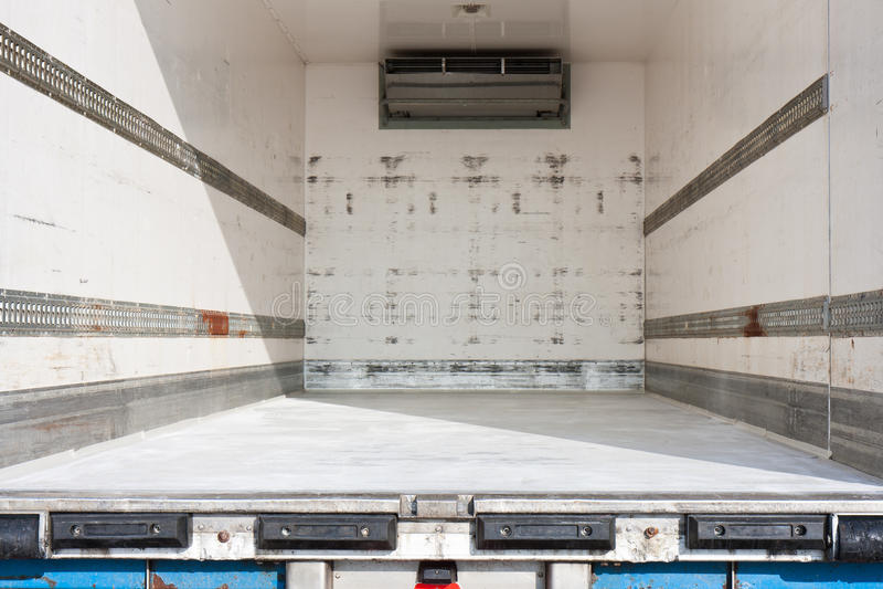 Scompartimento del trasporto di un camion fotografia stock
