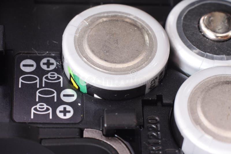 Scompartimento di batteria fotografia stock