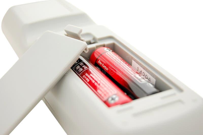 Scompartimento di batteria di telecomando fotografia stock libera da diritti