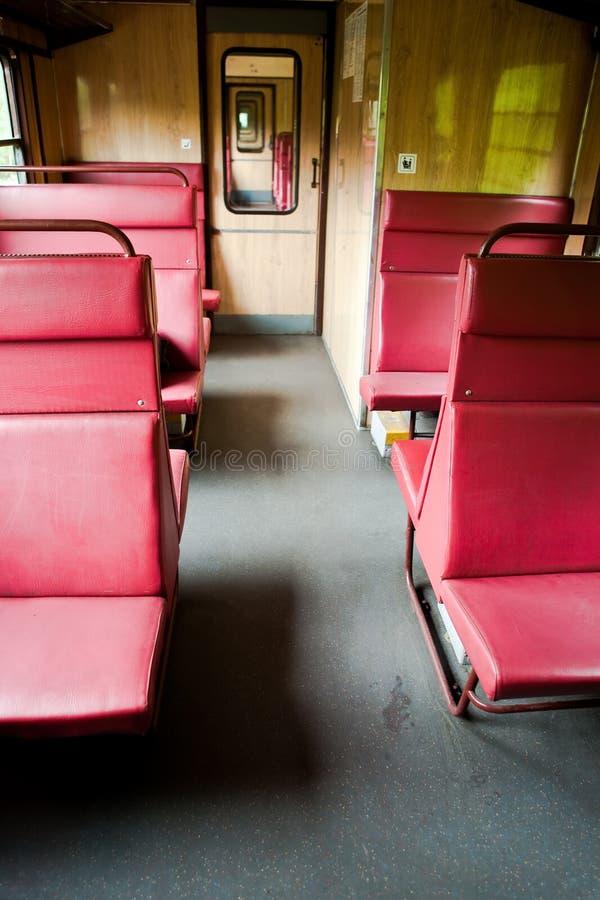 Scompartimento sul treno immagini stock