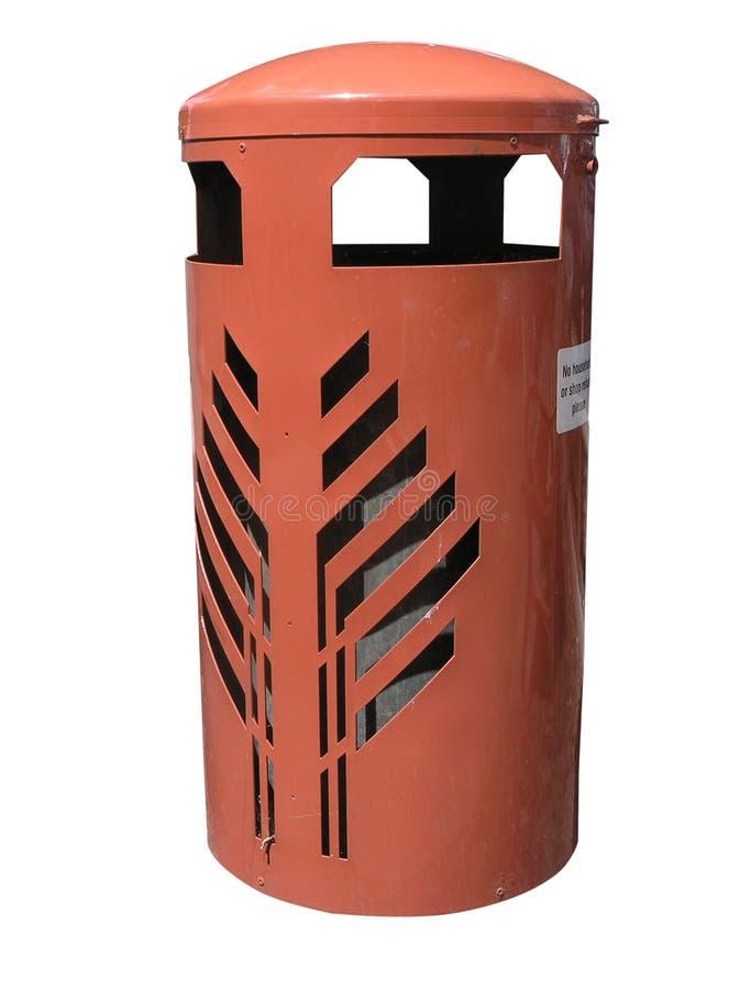 Scomparto arancione dei rifiuti fotografia stock