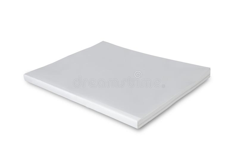 Scomparto bianco in bianco della pagina di copertina fotografie stock libere da diritti