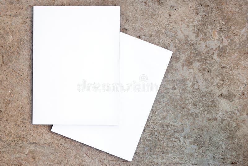 Scomparto in bianco. Lato fronte e posteriore immagini stock libere da diritti