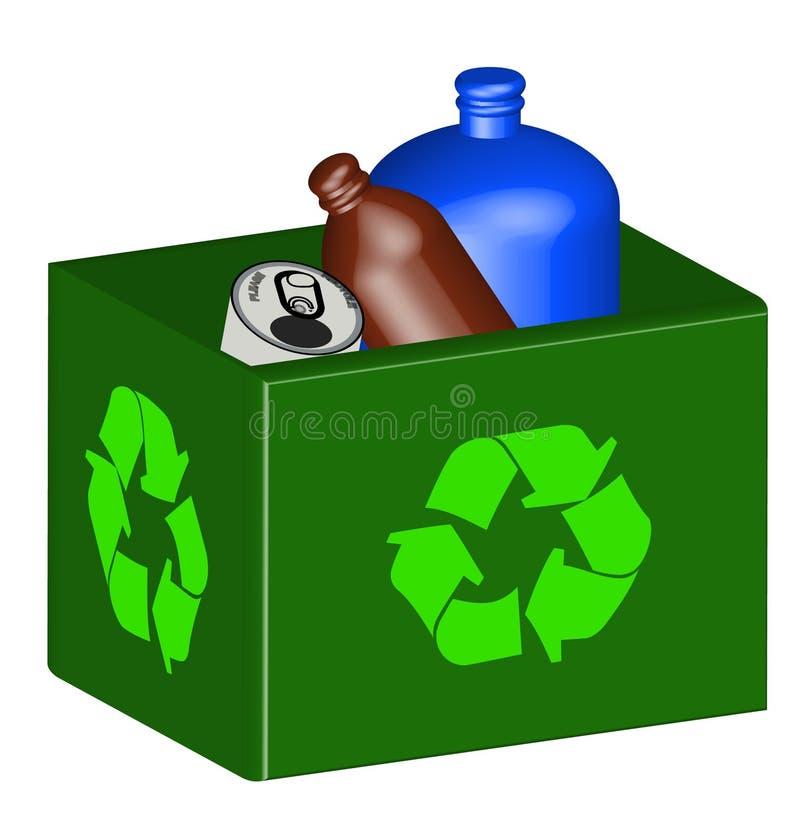 Scomparto di riciclaggio pieno royalty illustrazione gratis