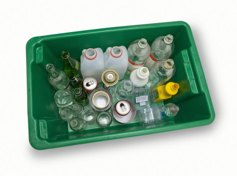 Scomparto di riciclaggio pieno immagine stock
