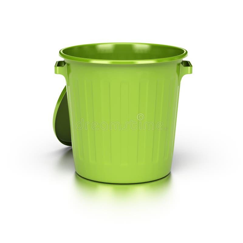 Scomparto di rifiuti verde vuoto royalty illustrazione gratis