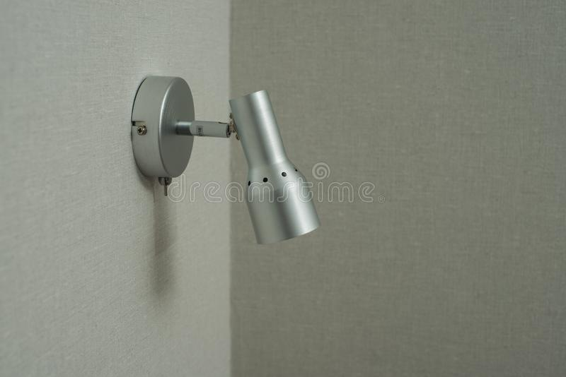 Sconce lamp. lighting for the apartment. lamp on the wall. Lamp for lighting the apartment. small lamp. lamp on LED lamps. LED lightening. stylish lamp. lamp stock photography