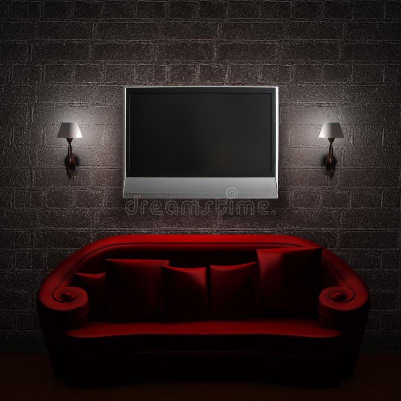 sconces tv lcd кресла красные бесплатная иллюстрация