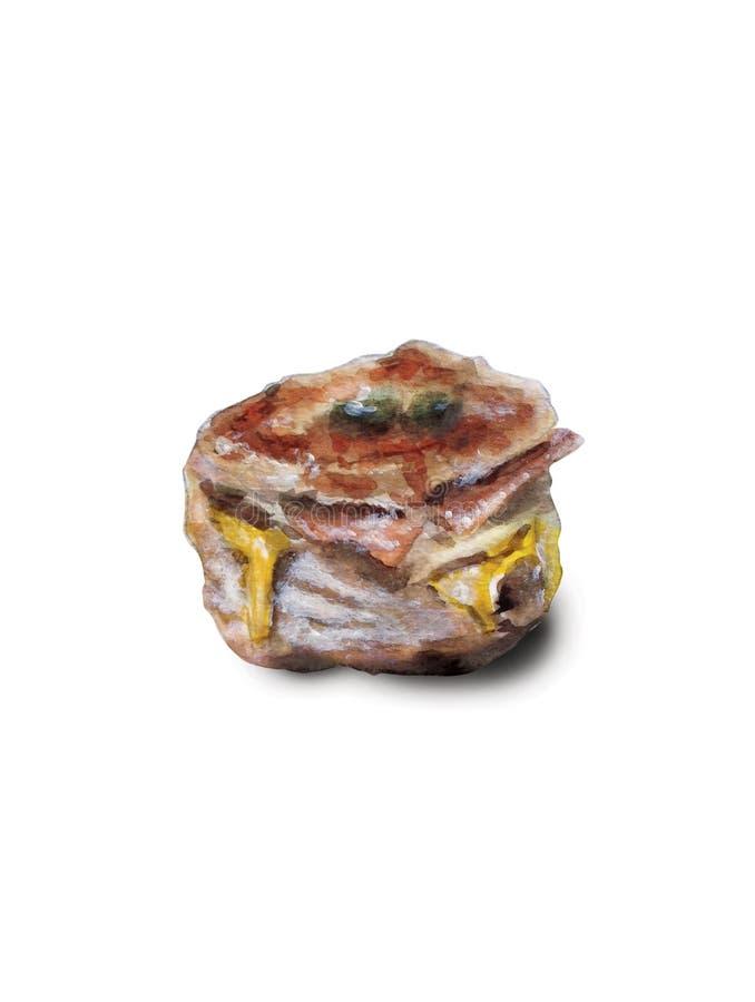 Scone del queso del tocino fotos de archivo libres de regalías