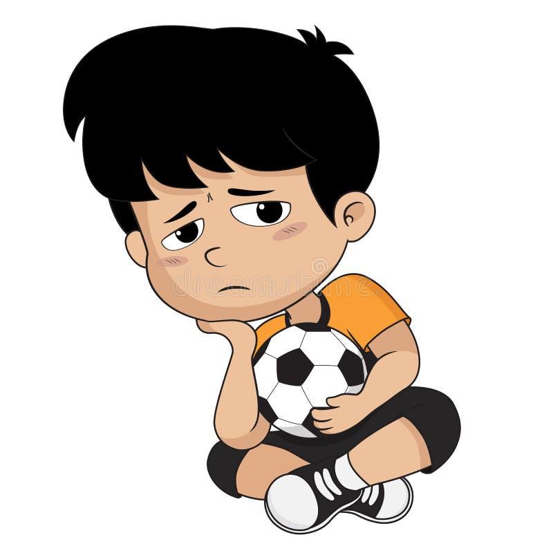 Sconfitte del bambino nella concorrenza Vettore ed illustrazione illustrazione di stock