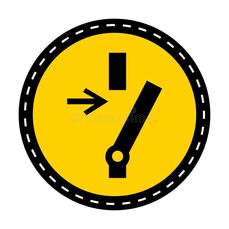 Sconnessione prima dell'isolato d'avanzamento del segno di simbolo di riparazione o di manutenzione su fondo bianco, illustrazion illustrazione vettoriale