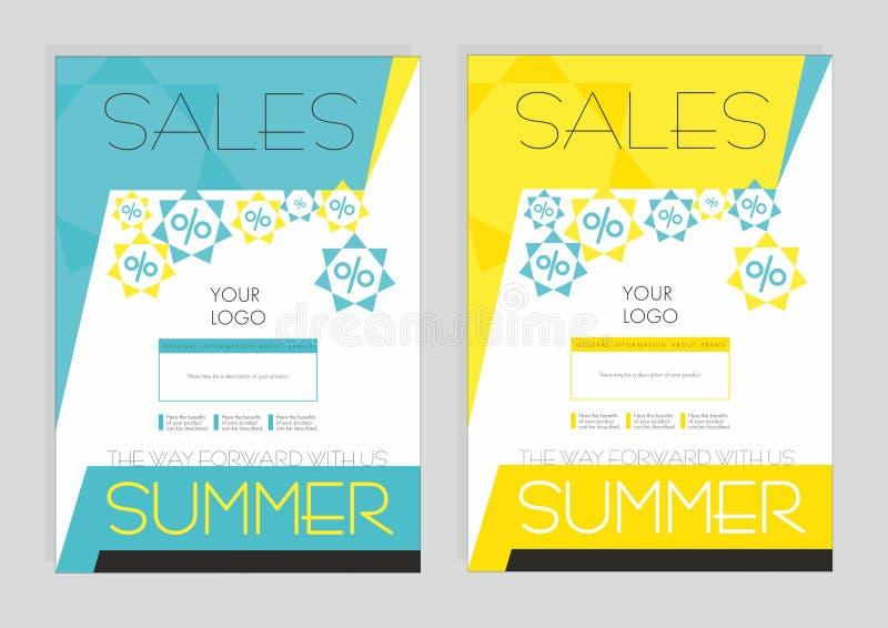 Sconti di estate sui prodotti bollati fotografia stock