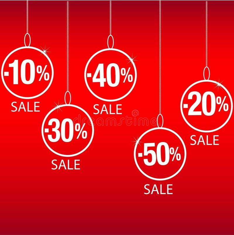 Sconto di vendita di Natale illustrazione vettoriale