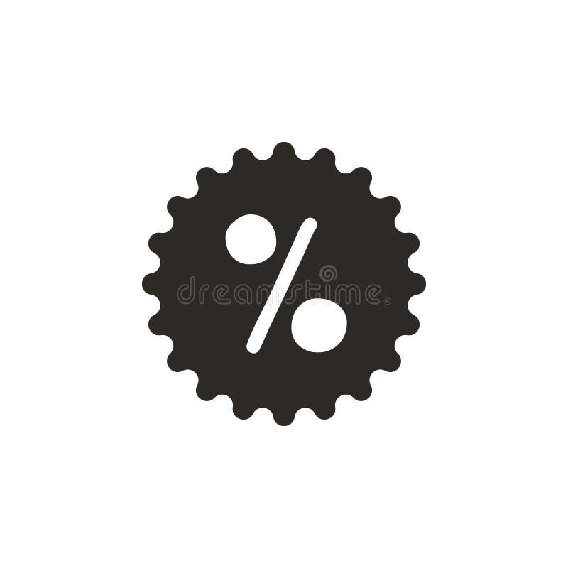 Sconto, la percentuale, icona di vettore di vendita Illustrazione semplice dell'elemento dal concetto di UI Sconto, la percentual illustrazione vettoriale