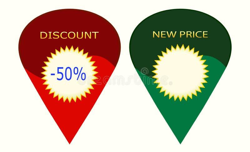 Sconto - nuovo - prezzo - 1V19 immagine stock libera da diritti