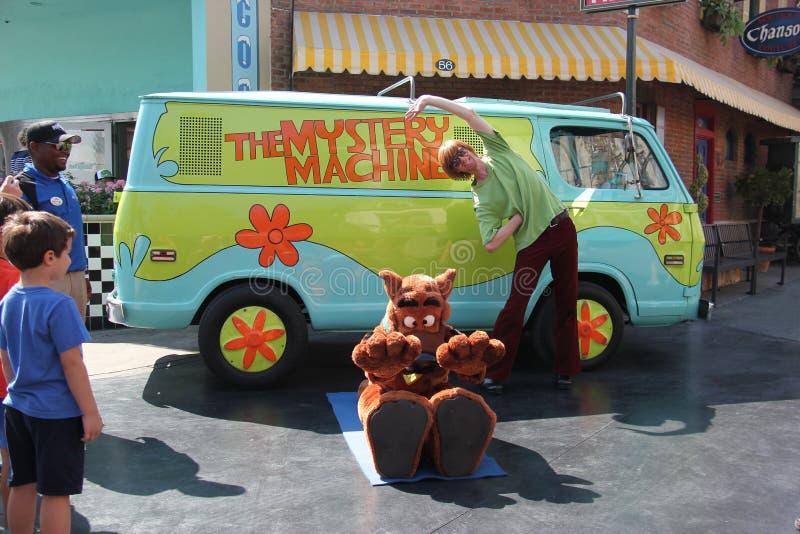 Scooby-Doo på universella studior Hollywood royaltyfria bilder