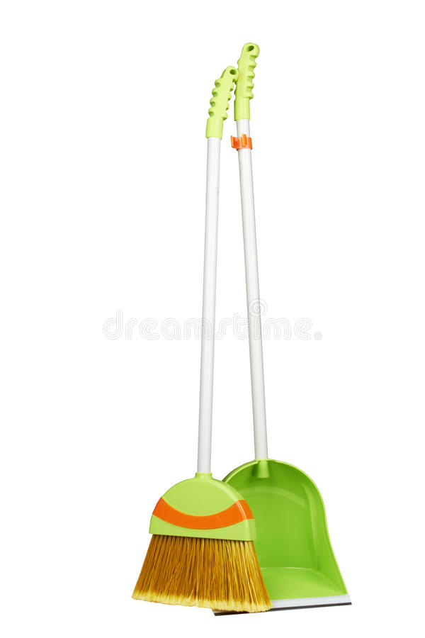 Download Scoop with a broom stock photo. Image of dust, path, object - 25060452