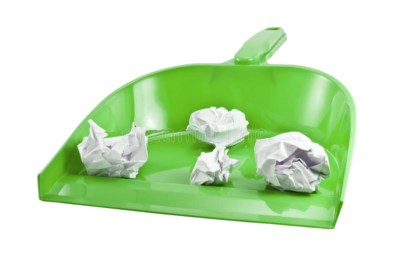 Download Scoop for cleaning stock image. Image of garbage, paper - 25486451