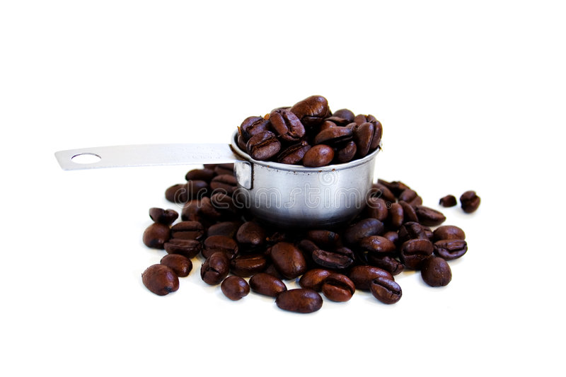 Download A scoop of coffee beans stock image. Image of tasty, java - 174225