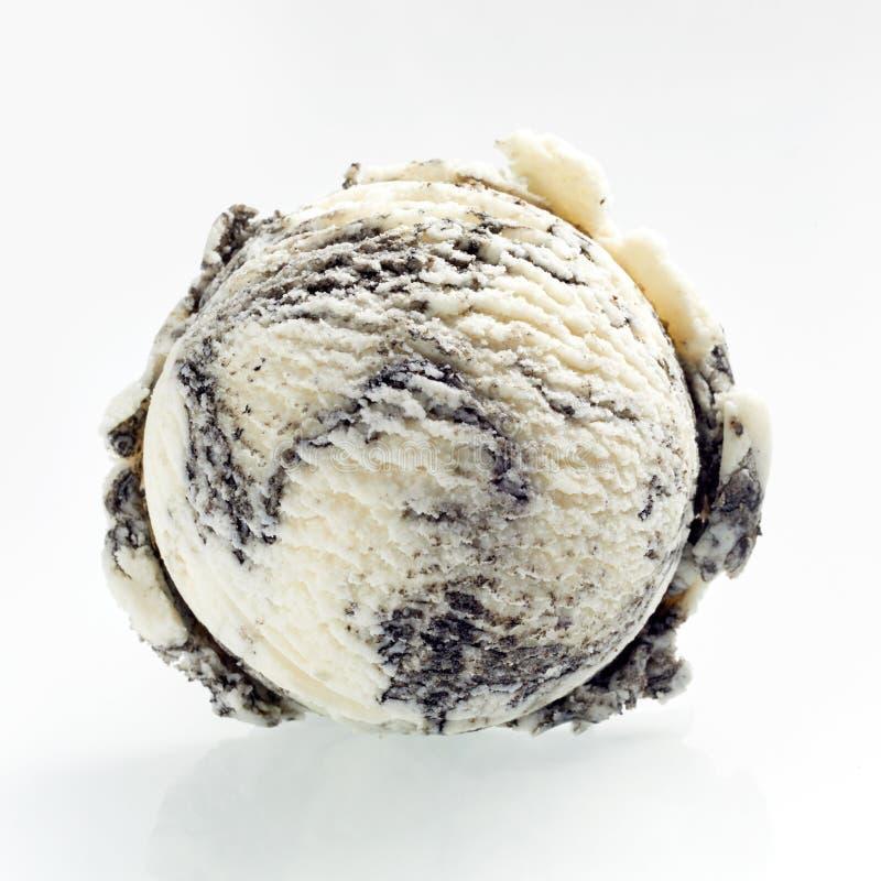 Scoop de crème glacée américaine d'oreo de spécialité image libre de droits