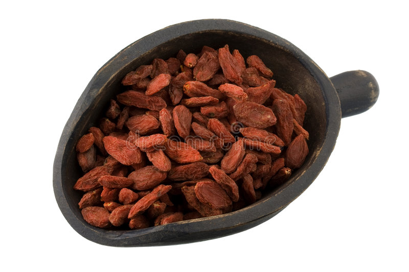 Download Scoop Of Dried Tibetan Goji Berries (wolfberries) Stock Photo - Image: 6832882