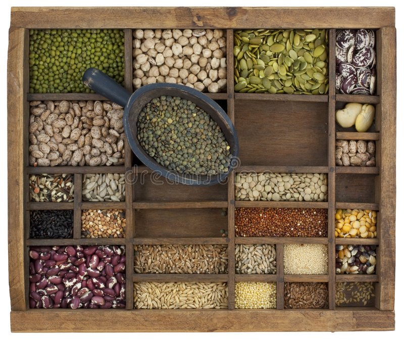 Download Scoop Of French Green Lentils Stock Photography - Image: 9321332