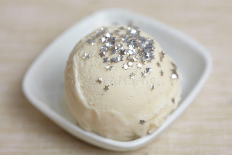 Scoop Of Homemade Frozen Yoghurt Royalty Free Stock Photo