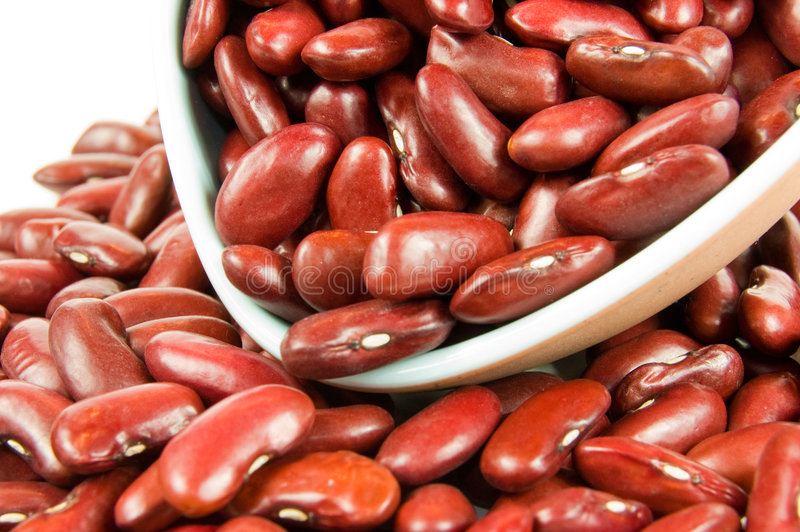 Download Scoop of Red Kidney Beans stock image. Image of bowl, close - 7214987