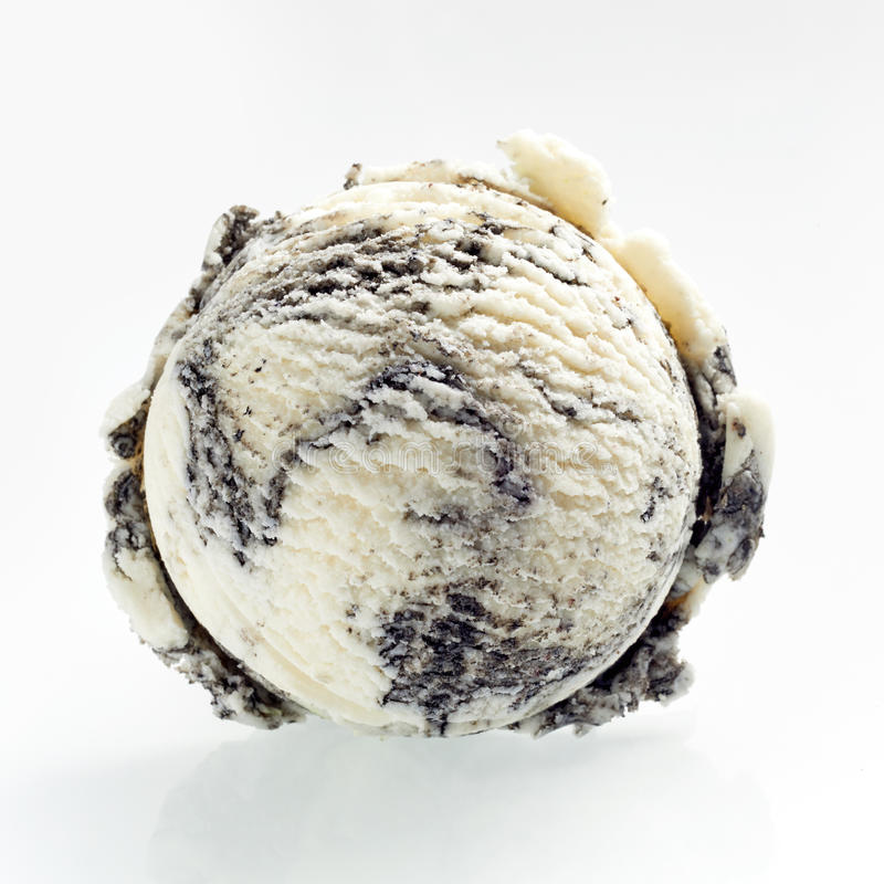 Scoop of speciality American oreo ice cream royalty free stock image