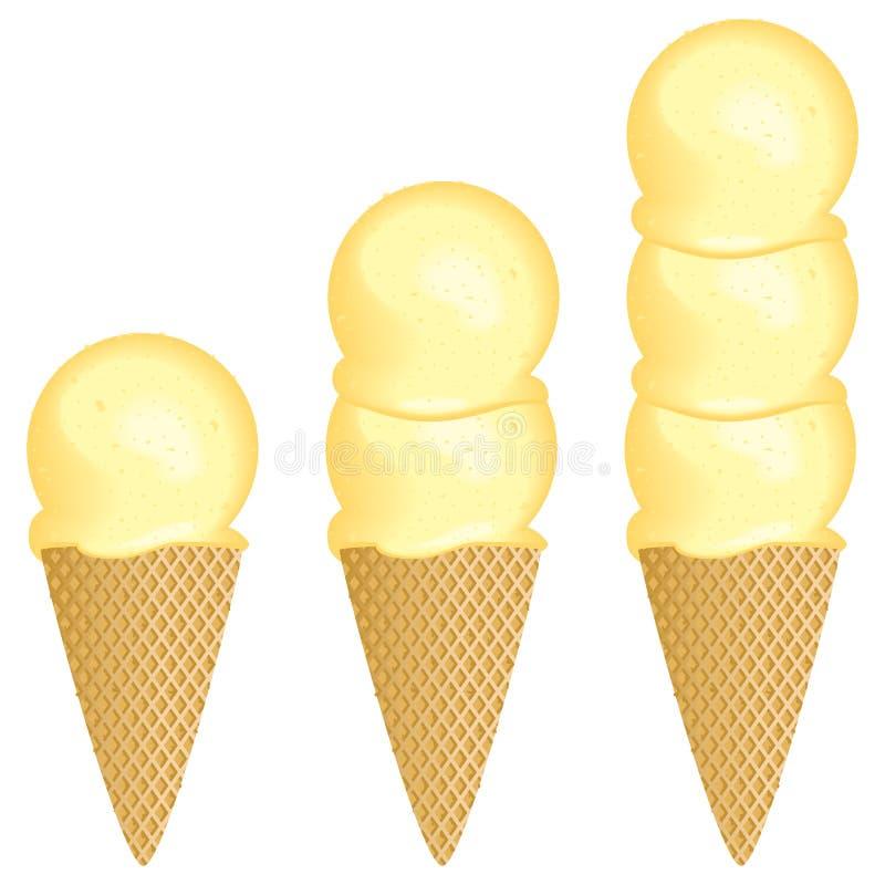 Scoops de crème glacée  illustration stock