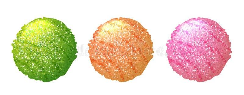 Scoops de crème glacée, boules sur le fond blanc illustration de vecteur