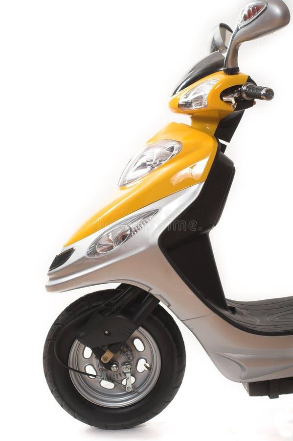 Scooter électrique jaune photographie stock libre de droits