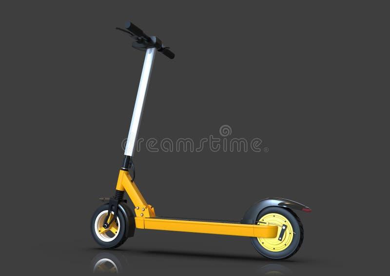 Scooter électrique, véhicule écologique urbain, fond sombre illustration de vecteur