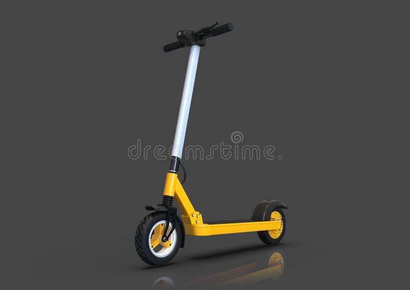 Scooter électrique, véhicule écologique urbain, fond sombre illustration stock
